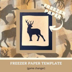 Make a Freezer Paper Template for Screenprinting