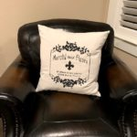throw pillow cover made from drop cloth
