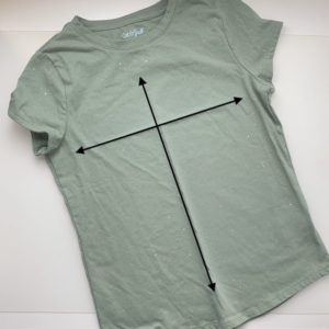 Shirt with cross hairs