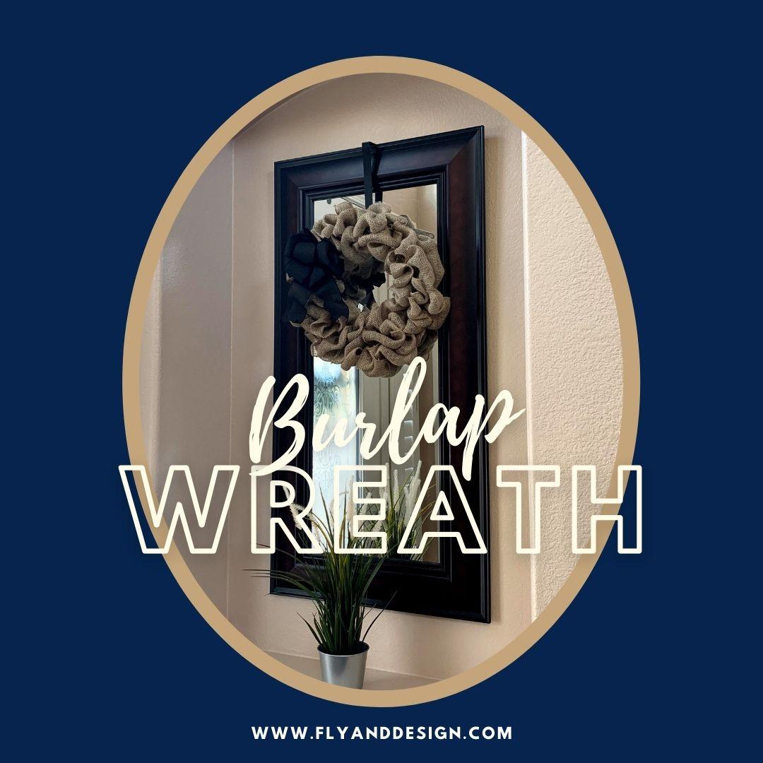 Burlap Wreath Insta