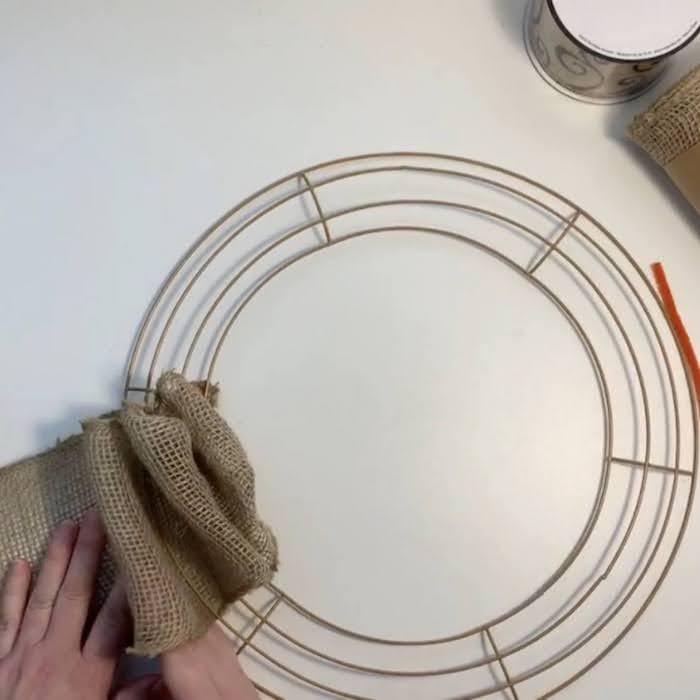 Four loops of burlap