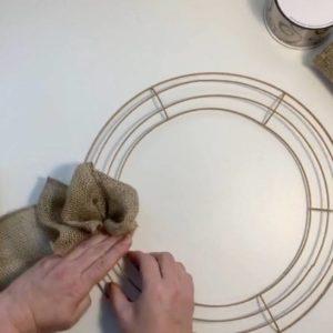 gather burlap loops