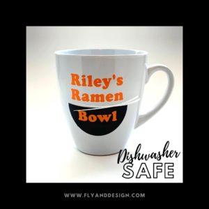 RileyBug's Ramen Bowl with Dishwasher Safe ModPodge