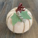 cute diy sweater pumpkin