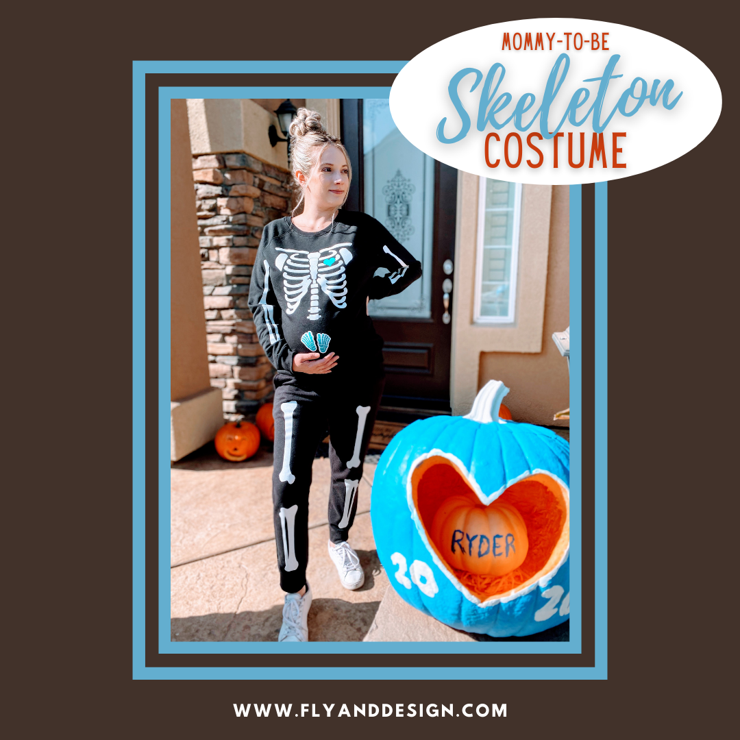 Skeleton Costume for Mommy-to-Be