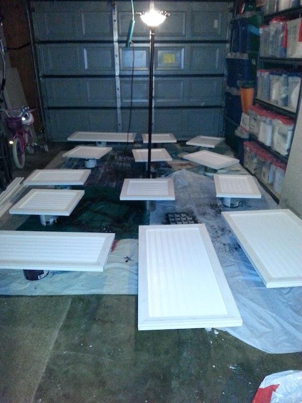 prepare to paint cabinet doors