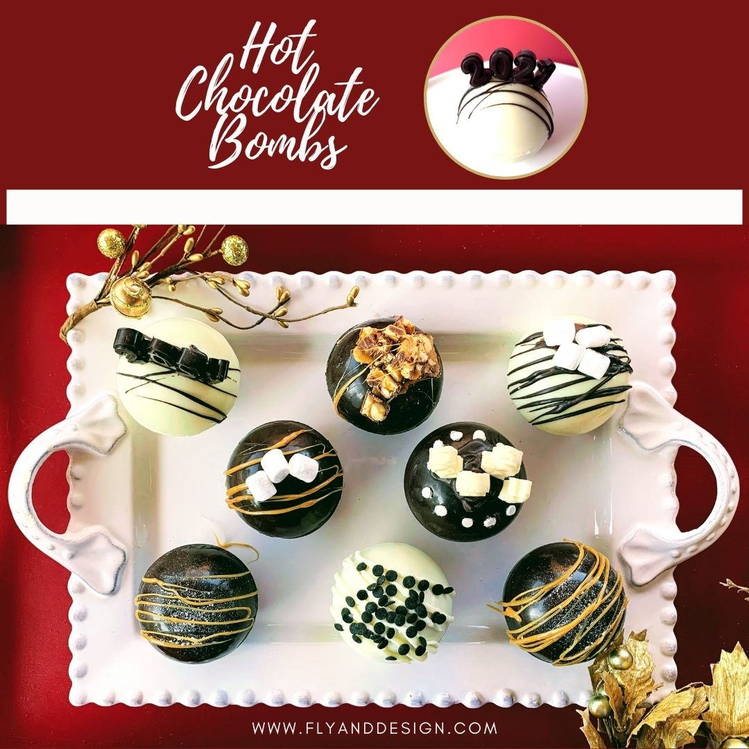 Hot Chocolate Bombs for New Year's Eve!