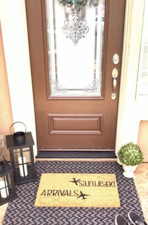 Arrivals/Departures Doormat